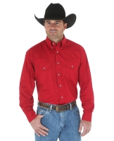 Рубашка мужская от Wrangler. (MP Painted Desert® Long Sleeve Lightweight Solid Twill Shirt.)