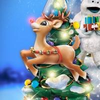 Музыкальный снежный шар с олененком Рудольфом.