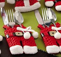 Коллекционный Рождественский набор держателей для посуды.