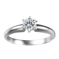 Sterling Silver Traditional Tiffany Style Solitaire set with Diamonds G-H I1 (0.33 ct. twt.). (Sterling Silver Traditional Tiffany Style Solitaire set with Diamonds G-H I1 (0.33 ct. twt.).)