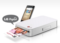 Мини фотопринтер LG  PD221 для смартфонов на андроиде. (LG Pocket Photo PD221 SILVER Mini Mobile Printer for Android Smartphone.)