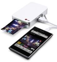 Мини фотопринтер LG  PD221 для смартфонов на андроиде.